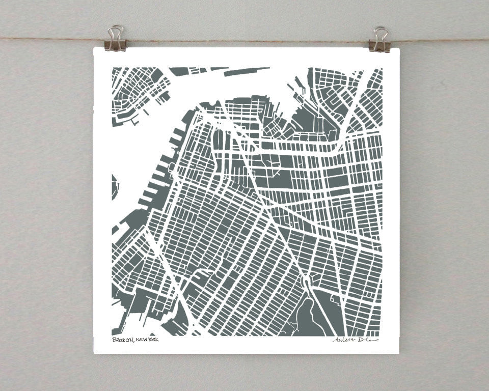 Brooklyn-Park Slope Hand-Drawn Map Print - Salty Lyon - 1