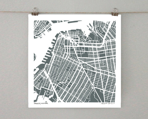 Brooklyn-Park Slope Hand-Drawn Map Print