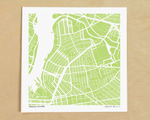 Brooklyn-Williamsburg Hand-Drawn Map Print