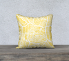 Madrid Map Pillow in Yellow - Salty Lyon