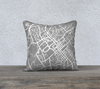 Blacksburg Map Pillow in Gray - Salty Lyon