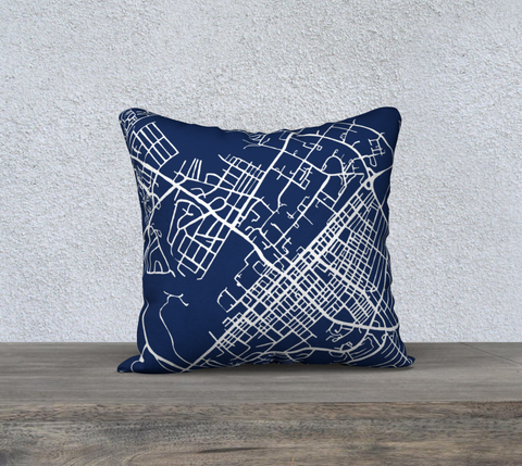 State College Map Pillow in Navy