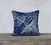 State College Map Pillow in Navy - Salty Lyon