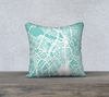 Zurich Map Pillow in Tiffany - Salty Lyon