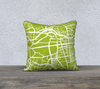 Berlin Map Pillow in Lime - Salty Lyon