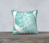 Charleston Map Pillow in Tiffany