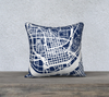 Cincinnati Map Pillow in Navy