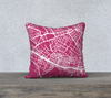 Florence Map Pillow in Magenta
