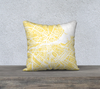 Geneva Map Pillow in Yellow