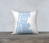 Grand Cayman Map Pillow in Sky Blue