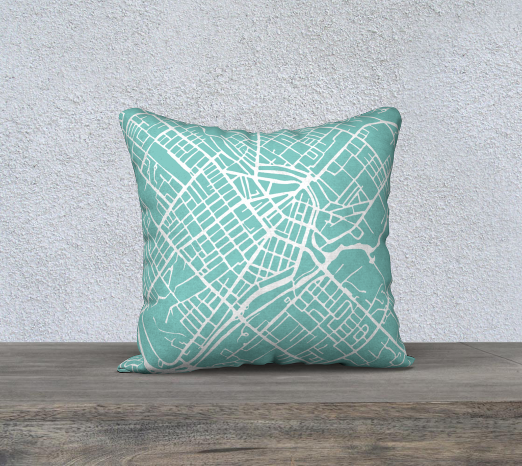 Guelph Map Pillow in Tiffany