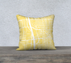 Tucson Map Pillow in Yellow