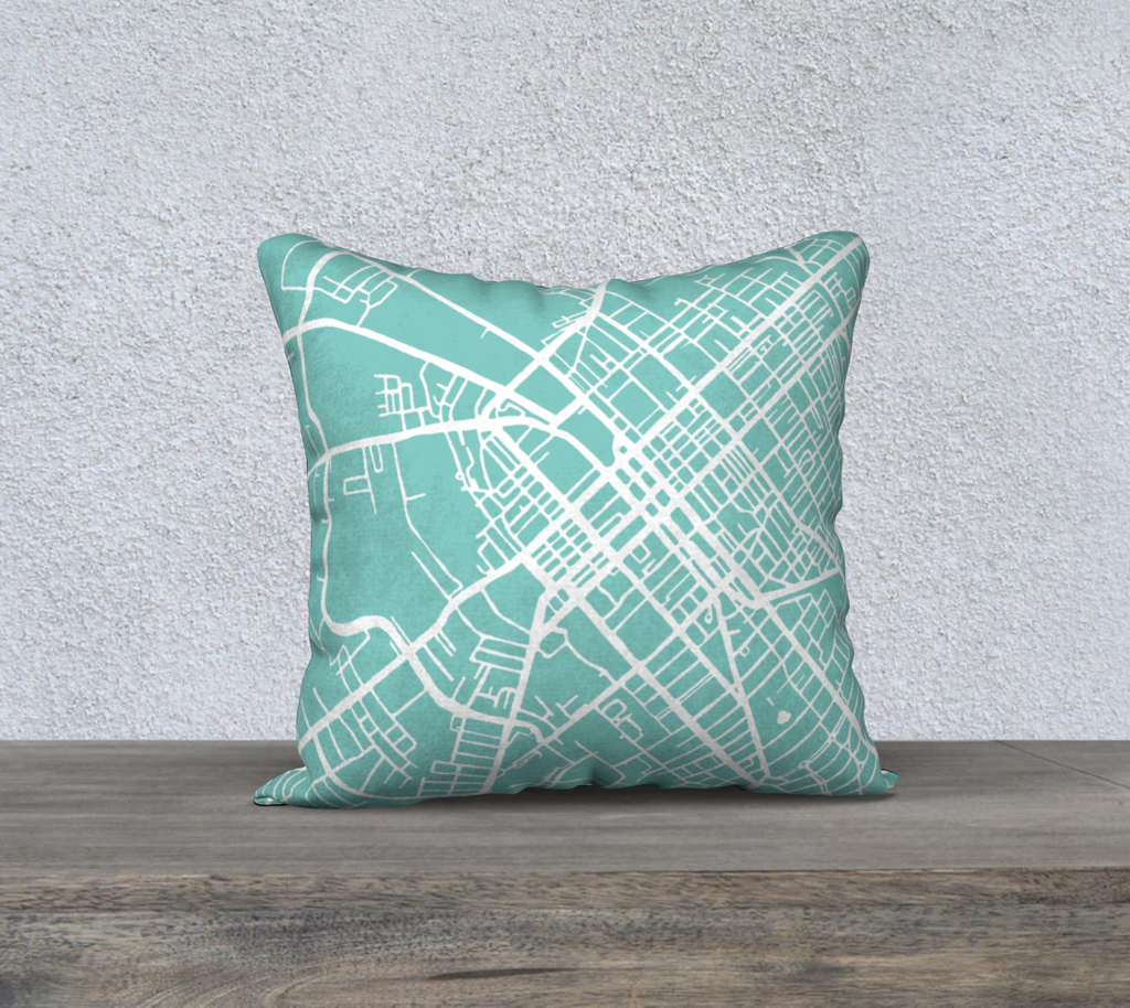 Lexington Map Pillow in Tiffany