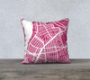 NYC- Brooklyn- Williamsburg- Map Pillow Case in Magenta