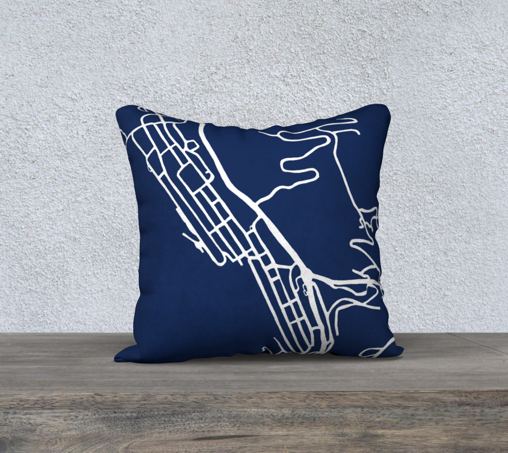 Park City Map Pillow Case in Navy