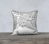 Perth Map Pillow Cover in Gray