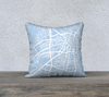 Santa Fe Map Pillow Cover in Sky Blue