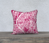 Sevilla Map Pillow Cover in Magenta