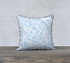 Somerville Map Pillow Cover in Sky Blue