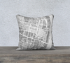St Louis Map Pillow Cover in Gray