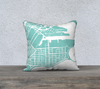 South Boston Map Pillow in Tiffany
