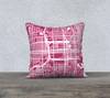 St Petersburg Map Pillow Cover in Magenta