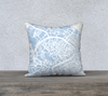 Venice Map Pillow Cover in Sky Blue