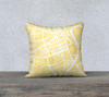 Winnipeg Map Pillow Cover in Yellow