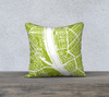 Budapest Map Pillow Cover in Lime