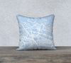 Cusco Map Pillow Cover in Sky Blue