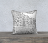 Istanbul Map Pillow Cover in Gray
