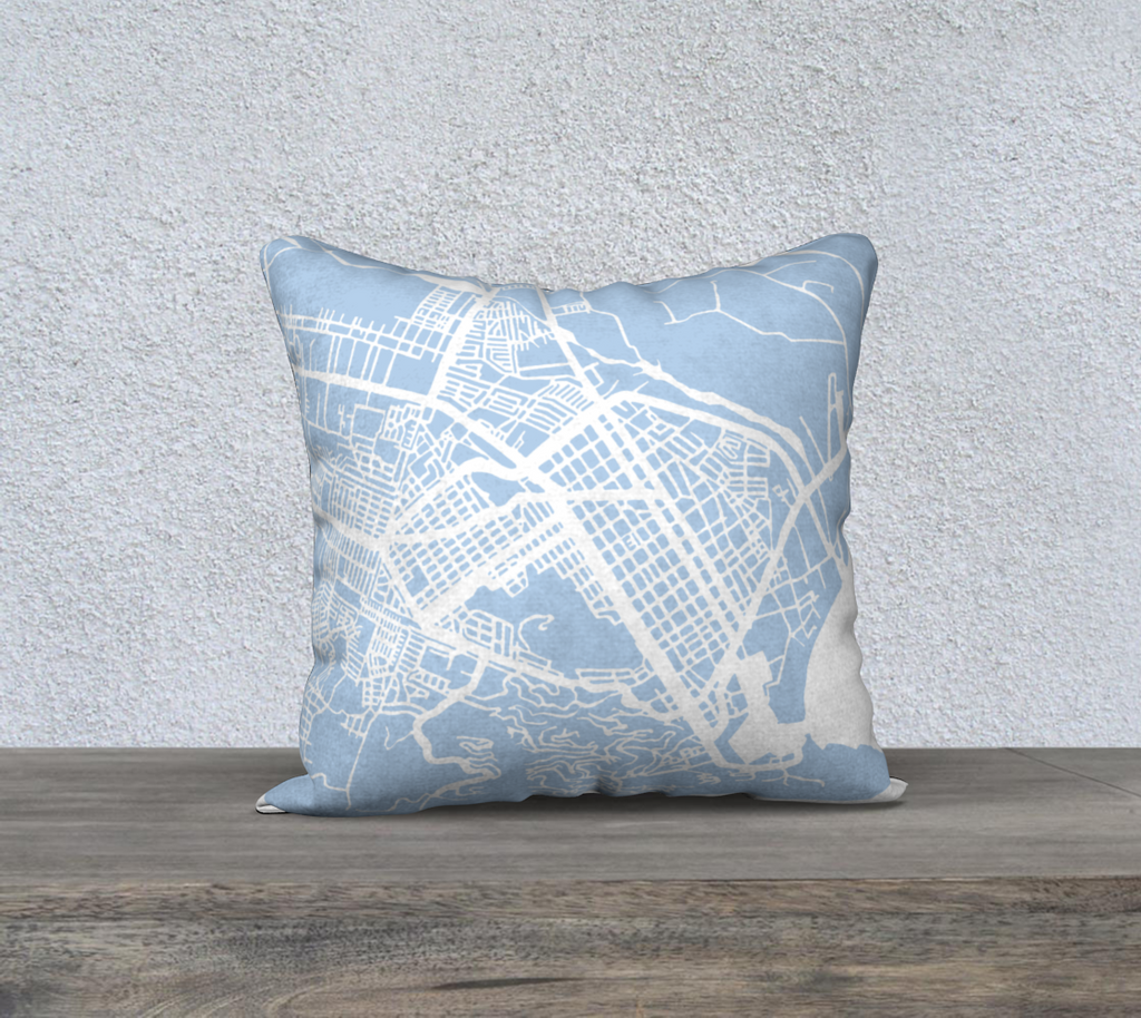Cabo San Lucas Map Pillow Cover