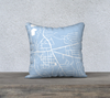 Fayetteville NY Map Pillow Cover in Sky Blue