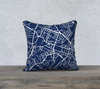 Charlottesville Map Pillow in Navy