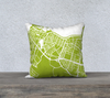 Reykjavik Map Pillow Cover in Lime