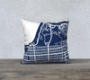 San Francisco NW Map Pillow Cover in Navy