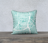 San Francisco SE Map Pillow Cover in Tiffany