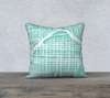 Calgary Alberta Map Pillow Cover in Tiffany