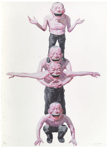 YUE MINJUN - Untitled (Smile-ism No. 2): One Smile Elevates Us All