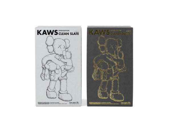 KAWS - CLEAN SLATE, GREY & BLACK