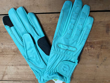 Load image into Gallery viewer, Gloves - eQuest Grip Pro Leather - Baby Blue