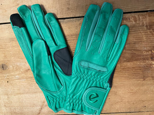 Gloves - eQuest Grip Pro Leather - Jade Green