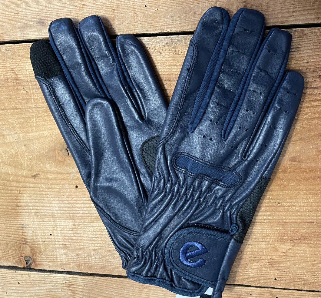 Gloves - eQuest Grip Pro Leather - Navy Blue