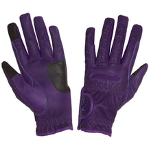 Load image into Gallery viewer, Gloves - eQuest Grip Pro Leather - Purple