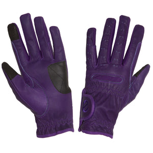 Gloves - eQuest Grip Pro Leather - Purple