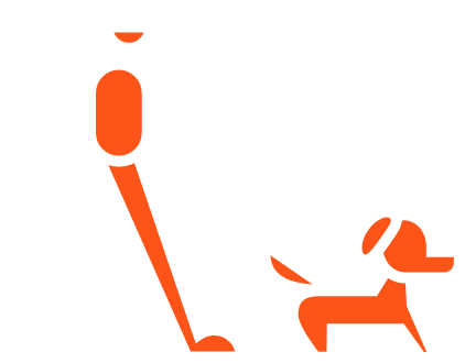 Man walking dog icon