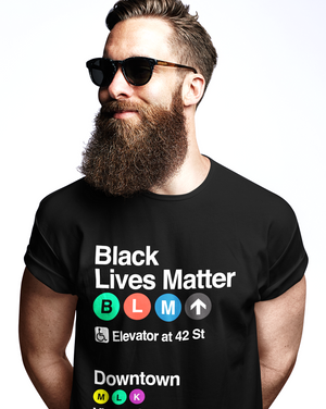 Black Lives Matter Tee NYC Subway Station
