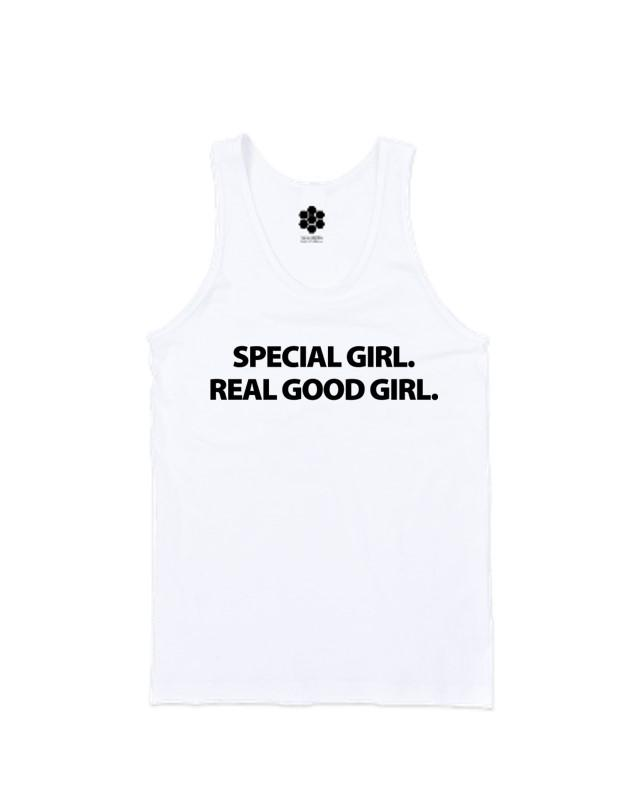 Special Girl Real Good Girl Tank-TANKS-WakandaForever