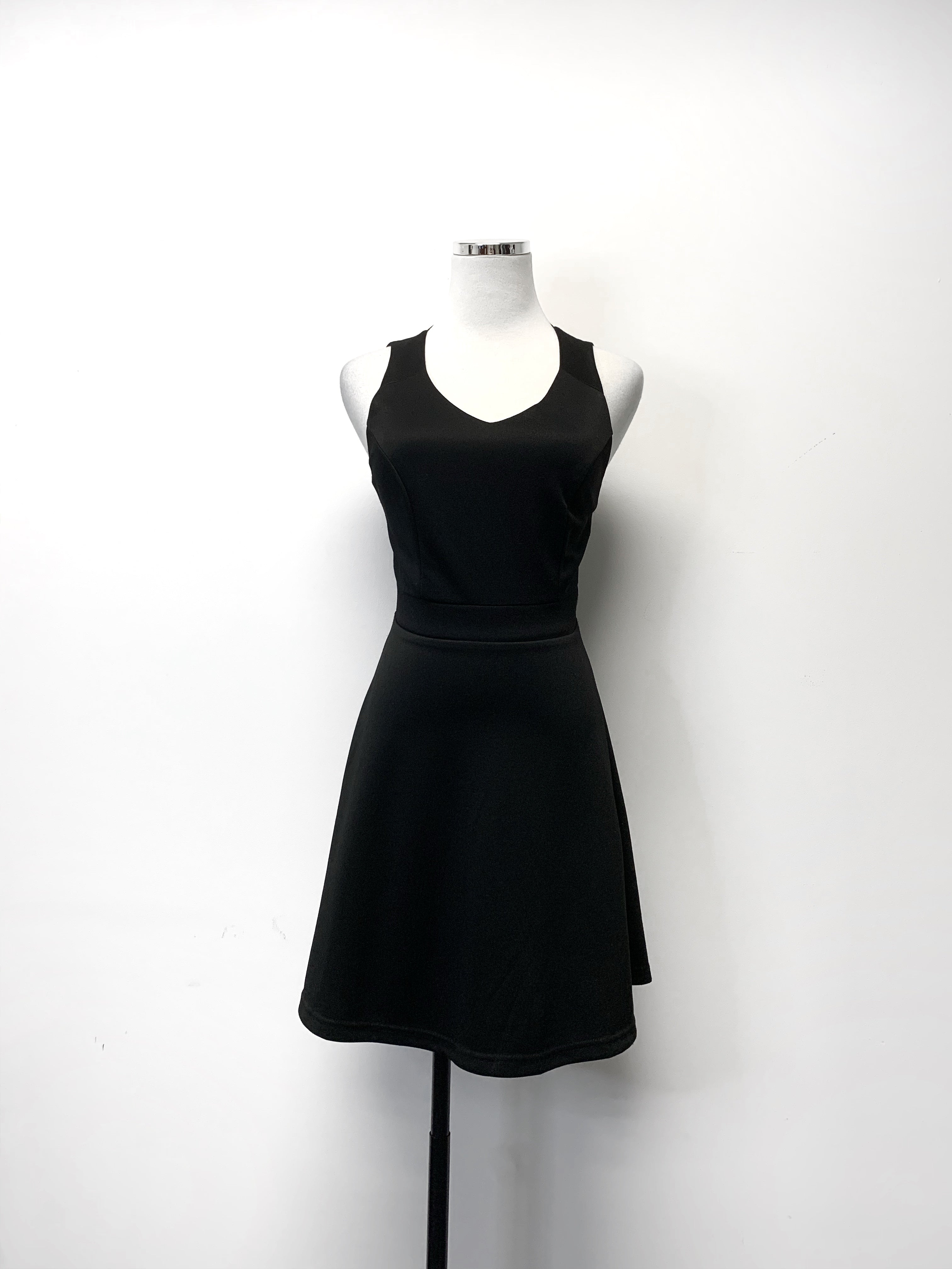 Black Dress with Back Cutout