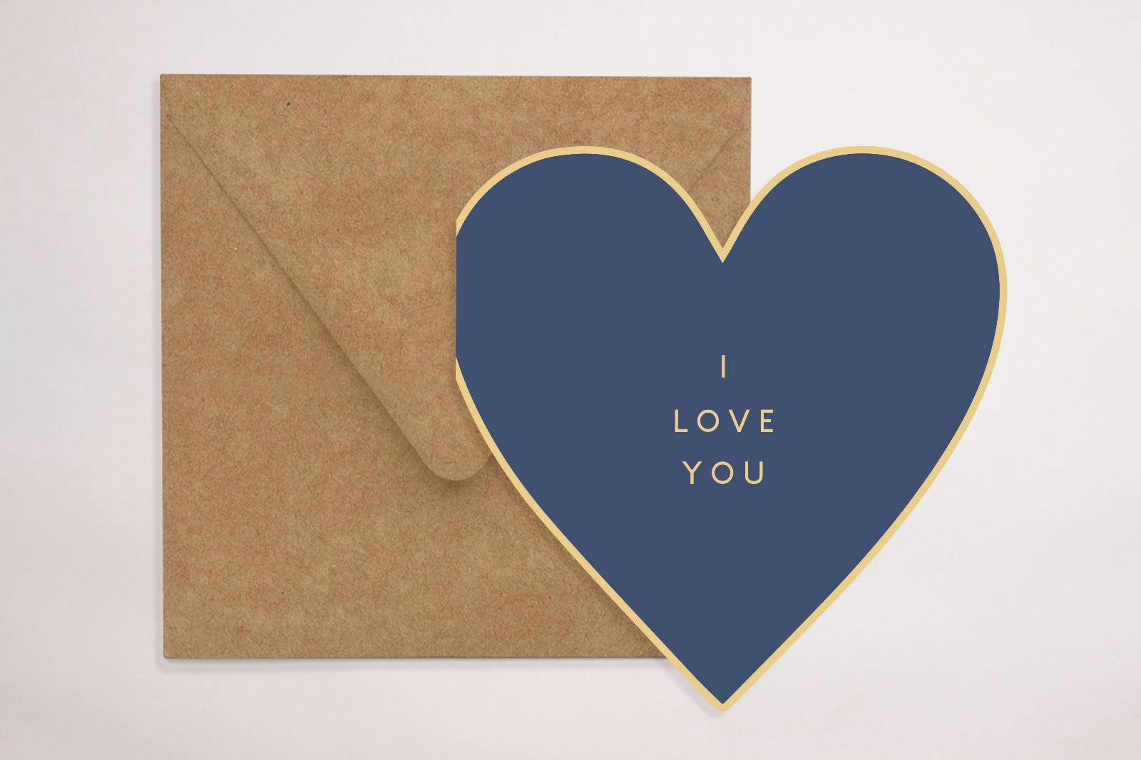 Blue Loveheart (Greeting Card)